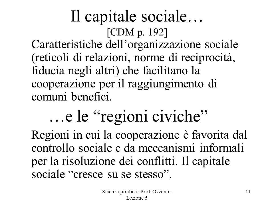 Il capitale sociale… [CDM p. 192]